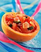 Grapefruit mit kandierten Früchten