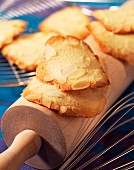 Thin crispy almond biscuits