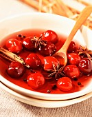 Spiced cherry soup (topic: summer fruits)