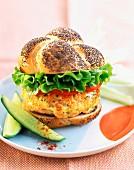 Salmon hamburger