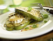 Chayote with goat's cheese