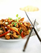 Chicken saute with cashew nuts