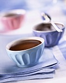 Small bowls of hot chocolate