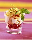 Apple Vacherin meringue dessert