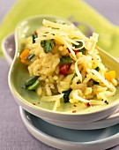 Risotto with baby vegetables