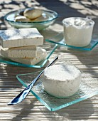 Fresh cheeses and fresh goat cheese