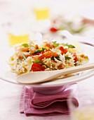 Pasta and prawn salad