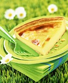 Cheese and ham flan