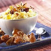 Quinoa with dates and raisins