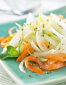 Salmon, fennel and mustard seed salad
