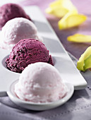 rose and blackcurrant sorbet (topic: ice cream)