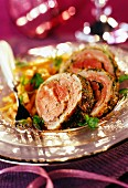 Lamb fillet in mild spicy herb crust