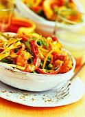 Tagliatelle with prawn madras