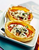 Tomato and Fourme d'Ambert cheese tarts