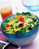 Watercress, chicory and wheat salad