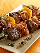 Beef and paprika kebabs