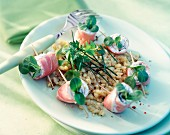 Rolled boiled ham and wheat