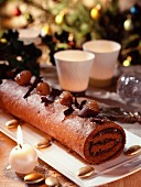 Chocolate and chestnut log
