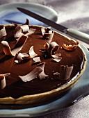 Chocolate and cream tart