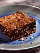 Moist chocolate brownie square