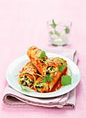 Cannelloni mit Gemüsefüllung (vegetarisch)