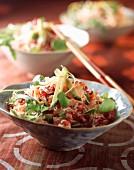 Crab, grapefruit and avocado salad