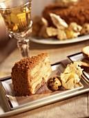 Gingerbread and foie gras cake