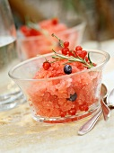 Summer fruit granita sorbet