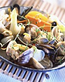 Preserved vegetable and shellfish salad