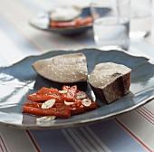 Tuna steak with red pepper