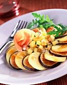 Potato, Serrano ham and fig salad