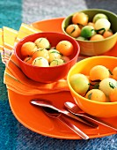 Melon and mint fruit salad