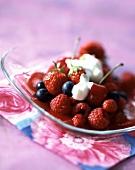 Jellied summer fruit