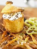 Baked potato mit sahniger Creme Fraiche