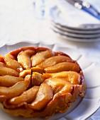 Caramelized peach tart