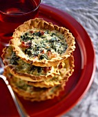 Swiss chard mini tarts with parmesan