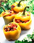 Peppers stuffed with rosebuds