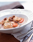 Scallop and chestnut soup