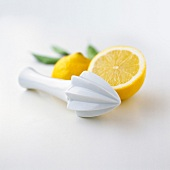 lemon with squeezer