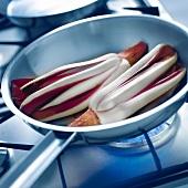 Radicchio Trevigiano lettuce in pan