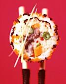 Japanese sushi and sushimi