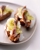 Anchovy crostinis