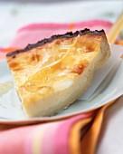 Eggnog tart