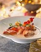 Coconut and prawn cream soup