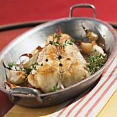 Monkfish with garlic