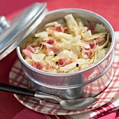 White cabbage and bacon stew