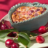 Cherry clafoutis batter pudding (topic: Provence)