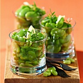 Broad beans with savory (topic: Provence)