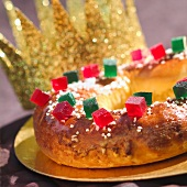 Gâteau des Rois confit fruit brioche