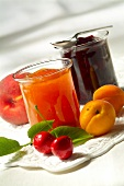 Apricot, peach and summer fruit jam (topic: Provence)